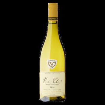 Bouteille de blanc viré-clessé vignes blanches